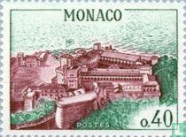 Vue aérienne du palais princier