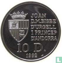 "Andorra 10 diners 1992 (PROOF) ""Chamois"""