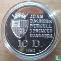 "Andorra 10 diners 1992 (PROOF) ""Brown bear"""