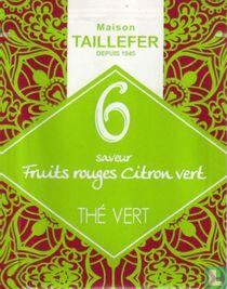 6 saveur Fruit rouges Citron vert