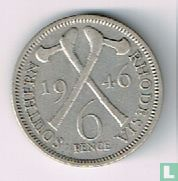 Zuid-Rhodesië 6 pence 1946