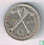 Zuid-Rhodesië 6 pence 1941