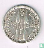 Zuid-Rhodesie 3 pence 1936