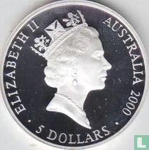 "Australië 5 dollars 2000 (PROOF) ""Summer Olympics in Sydney - Australian map"""