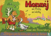 Honnij en Polly en Wolly naar de boerderij