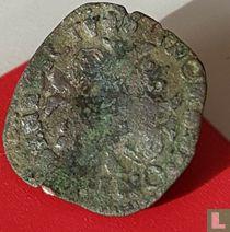 France  1 douzain  (Henri III)  1574-1589