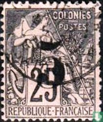 Cochinchina / Type Dubois, with surcharge