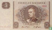 Schweden 5 Kronor 1962
