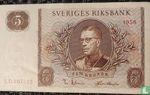 Schweden 5 Kronor 1956