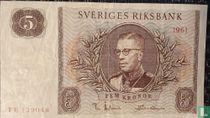Schweden 5 Kronor 1961