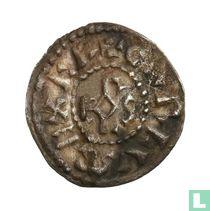 Holy Roman Empire  1 denier (Charlemagne, Mayence) 768-814