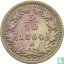 Austria 5/10 kreuzer 1864 (B)