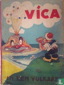 Vica in een vulkaan