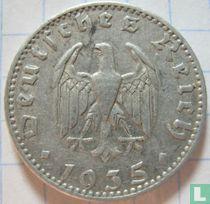 Duitse Rijk 50 reichspfennig 1935 (aluminium - J)