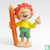 Pumuckl with pencil