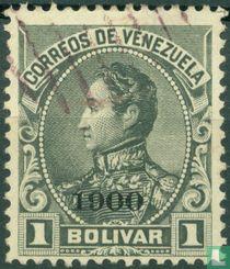 Simon Bolivar, mit Aufdruck