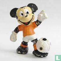 Mickey as footballer