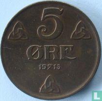 Norwegen 5 Øre 1913