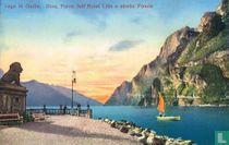 Lago di Garda.  Riva, Parco dell' Hôtel Lido e Strada Ponale