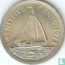 Bahama`s 25 cents 1973
