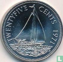Bahama`s 25 cents 1971