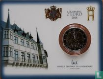 """Luxembourg 2 euro 2018 (coincard - lion) """"175th anniversary Death of Grand Duke William I"""""""