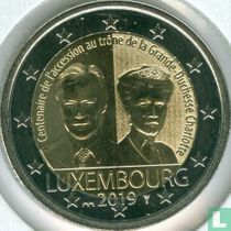 """Luxembourg 2 euro 2019 (Sint Servaasbrug) """"Centenary Accession to the throne of the Grand Duchess Charlotte"""""""