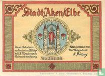 Aachen A/D Elbe, Stadt 50 Pf. (3 WM)