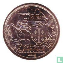 "Austria 10 euro 2019 (copper) ""920th anniversary of the capture of Jerusalem"""