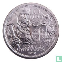 """Austria 10 euro 2019 (silver) """"920th anniversary of the capture of Jerusalem"""""""