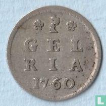 """Gelderland 1 stuiver 1760 """"Bezemstuiver"""""""