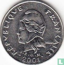 Frans-Polynesië 20 francs 2001