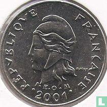 Frans-Polynesië 10 francs 2001