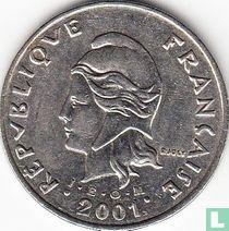 Frans-Polynesië 50 francs 2001
