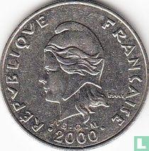 Frans-Polynesië 20 francs 2000