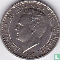 Monaco 100 francs 1950 (proefslag - koper-nikkel)
