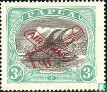 Lakatoi - overprint Vlieguig Airmail