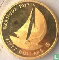 "Bermuda 50 dollars 1977 (PROOF - met CHI) ""25th anniversary  Accession of Queen Elizabeth II"""