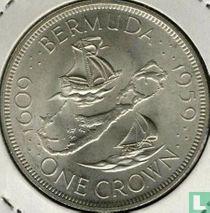 "Bermuda 1 crown 1959 ""350th anniversary Colony founding"""