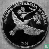 "Congo-Kinshasa 10 francs 2000 (BE) ""Sunbird nectarinia superba"""