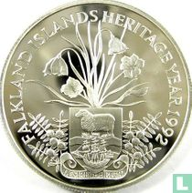 "Falklandeilanden 2 pounds 1992 (PROOF) ""Heritage year"""