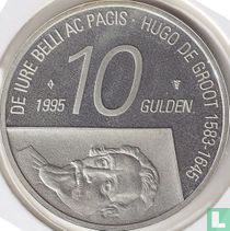 "Nederland 10 gulden 1995 (PROOF) ""300th anniversary Death of Hugo de Groot"""