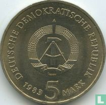 "DDR 5 mark 1983 ""500th anniversary Birth of Martin Luther"""