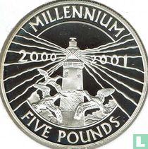 """Alderney 5 pounds 2000 (PROOF) """"Millennium"""""""
