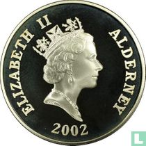 "Alderney 5 pounds 2002 (PROOF - silver) ""5th anniversary Death of Princess Diana"""