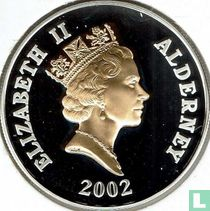 "Alderney 5 pounds 2002 (PROOF) ""50th anniversary Accession of Queen Elizabeth II - Coronation procession"""