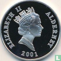 "Alderney 5 pounds 2001 (PROOF) ""75th Birthday of Queen Elizabeth II"""