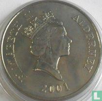 "Alderney 5 pounds 2001 ""75th Birthday of Queen Elizabeth II"""