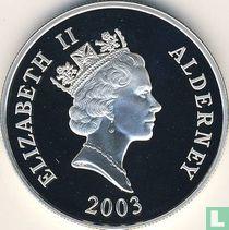 "Alderney 5 pounds 2003 (PROOF - silver) ""Last flight of the Concorde"""