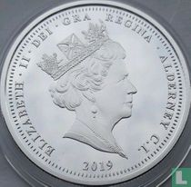 "Alderney 5 pounds 2019 (PROOF) ""200th anniversary of the birth of Queen Victoria"""